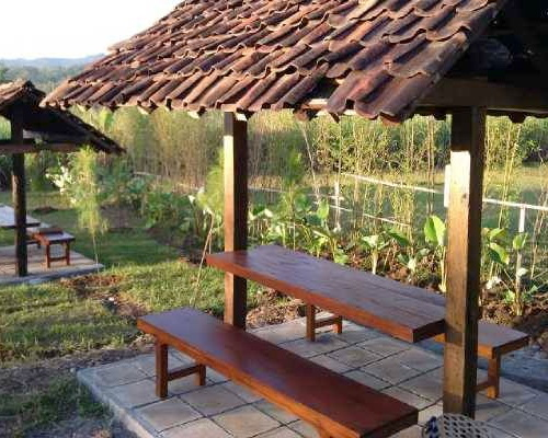 Tinuku.com Kampoeng Jelok Resort applying nature concept in rice fields, river, rustic architecture and culinary countryside