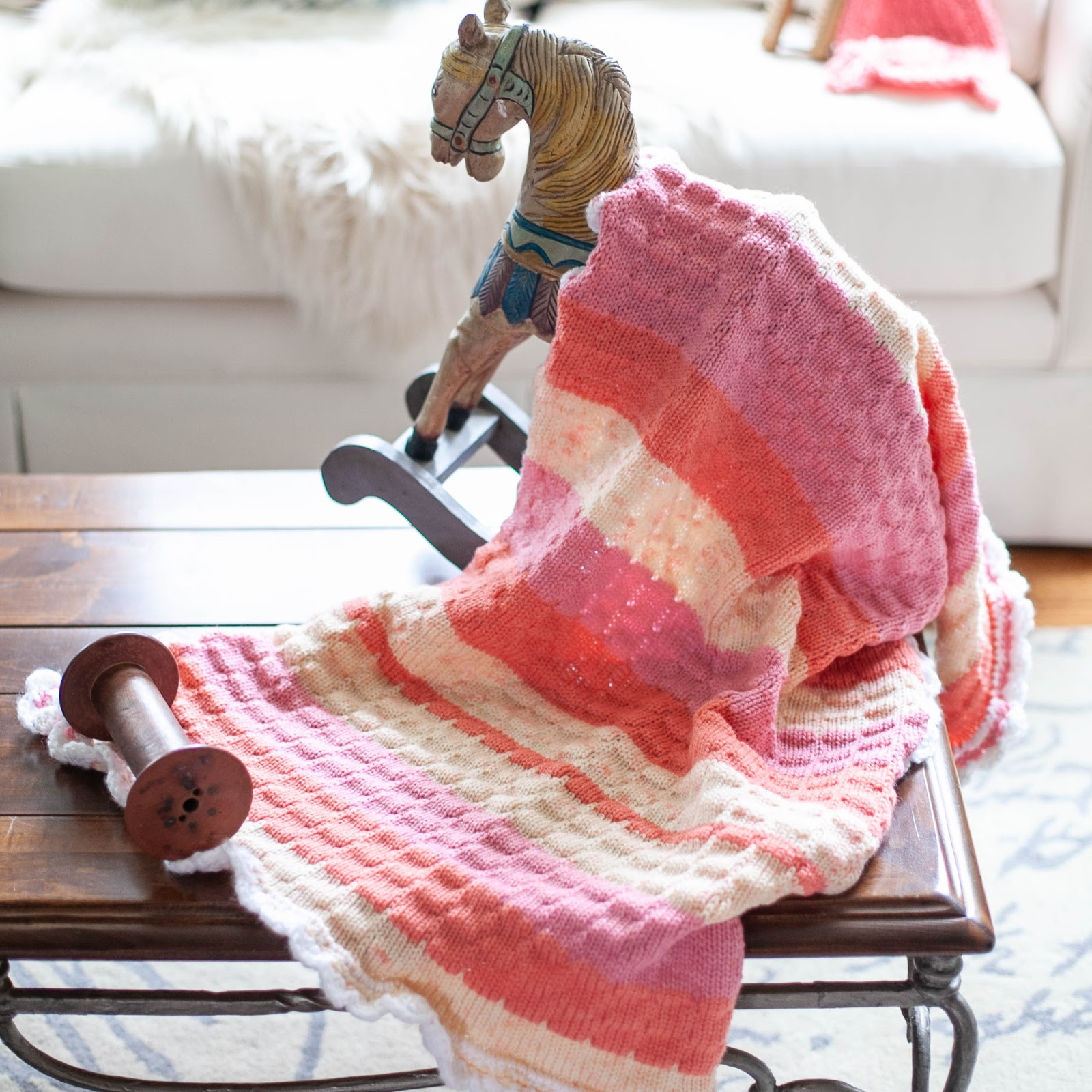 Loom Knit Baby Blanket Pattern Just Published Loom Knitting By