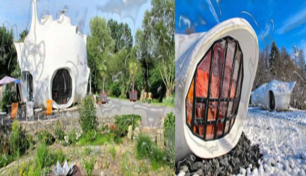 Keeping old fashioned construction style, the MuseMotel is a wonderful prodigy, which has been refurbished and opened in the last century. It is located in the north-eastern forest of the country and its white pod curved structures look like anything ultramodern.