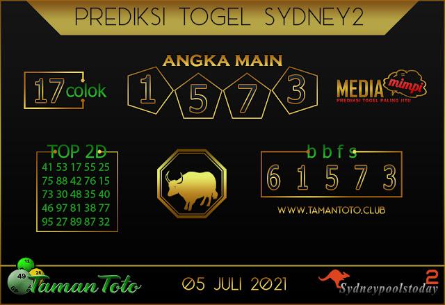 Prediksi Togel SYDNEY 2 TAMAN TOTO 05 JULI 2021