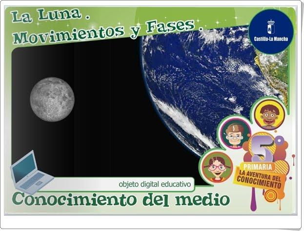 """""""La Luna. Movimientos y fases"""" (Aplicación interactiva de Ciencias Sociales de Primaria)"""