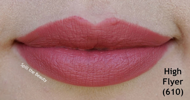 rimmel the only 1 matte lipstick review swatches 610 - high flyer