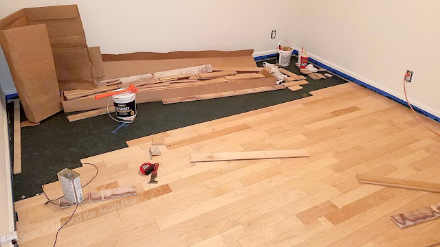 Gluing down hardwood flooring really sucks