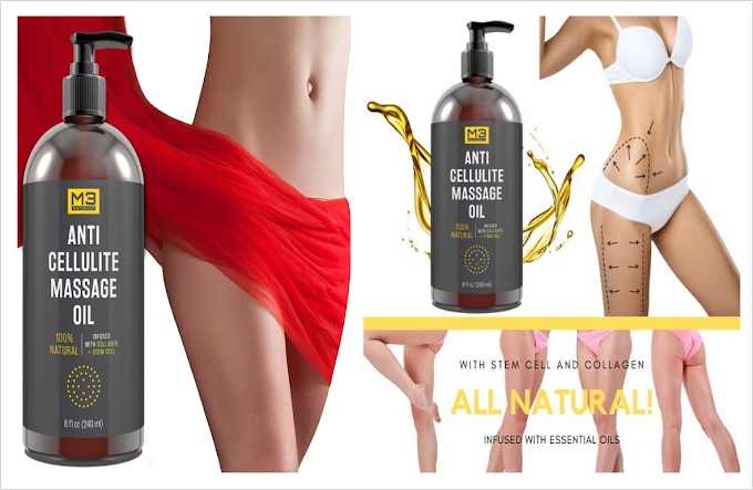 Anti Cellulite   Massage Oil Infused with Collagen and Stem Cell