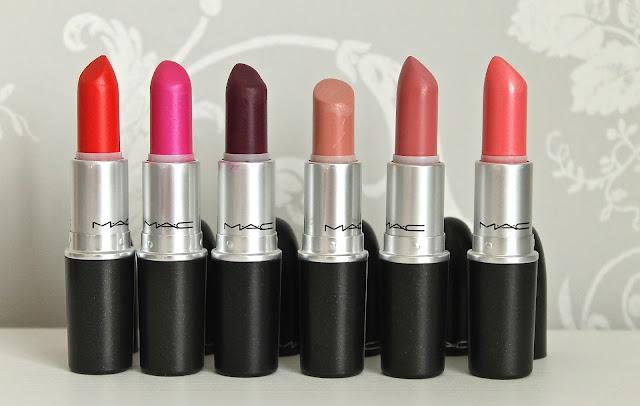 My Top 6 Mac Lipsticks