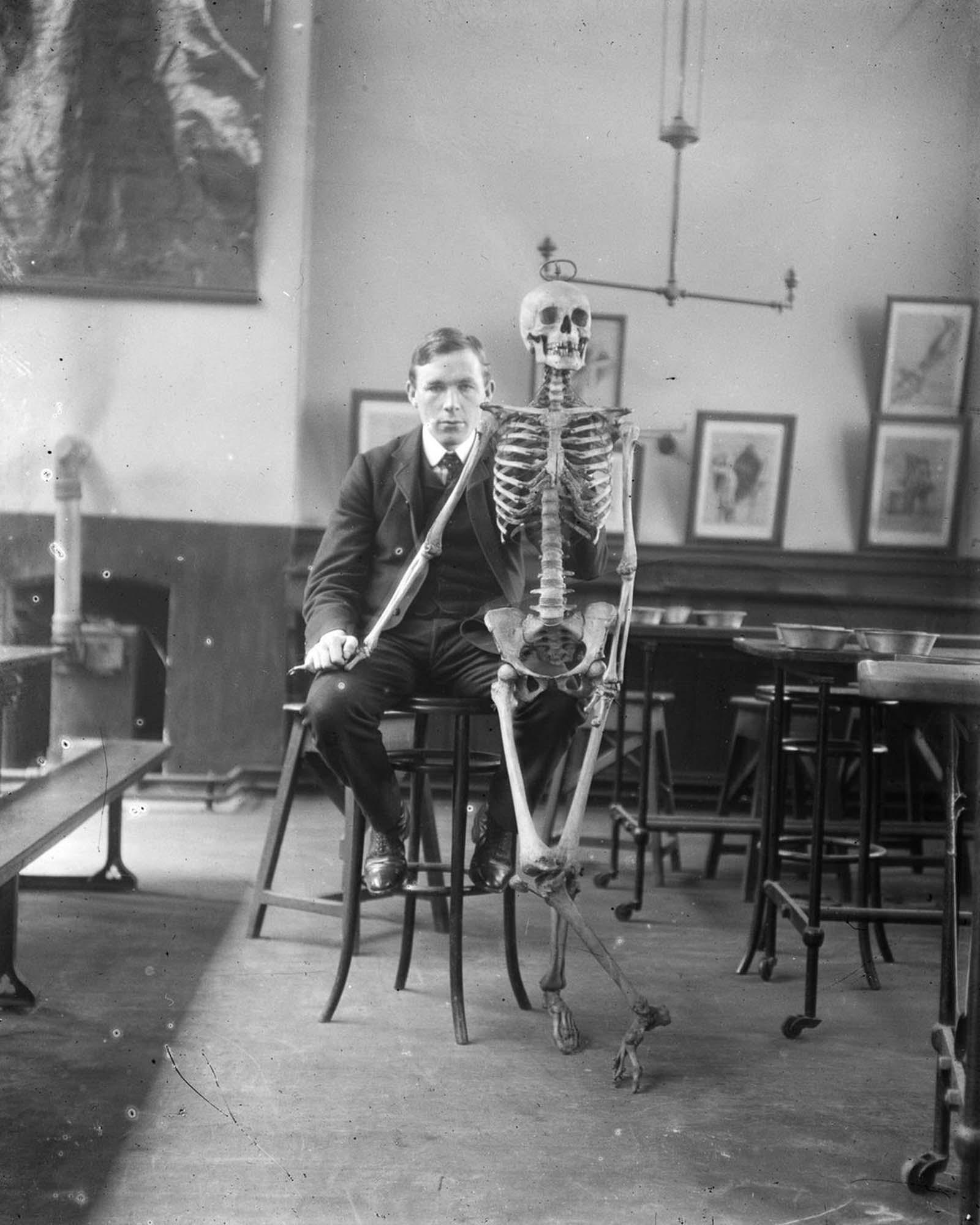 Medical student John Joseph Clarke. 1900.