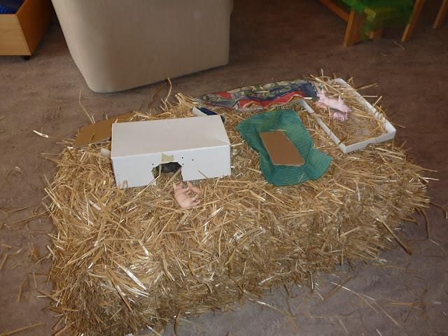 Schweine Spielangebot im Kindergarten