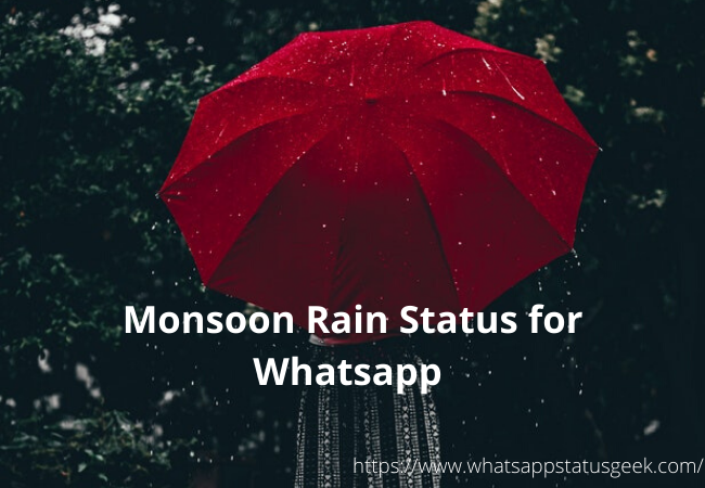 Monsoon Rain Status for Whatsapp
