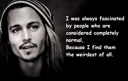 Johnny Depp  about moral people