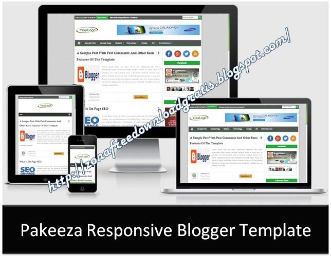 Pakeeza Responsive Blogger Template