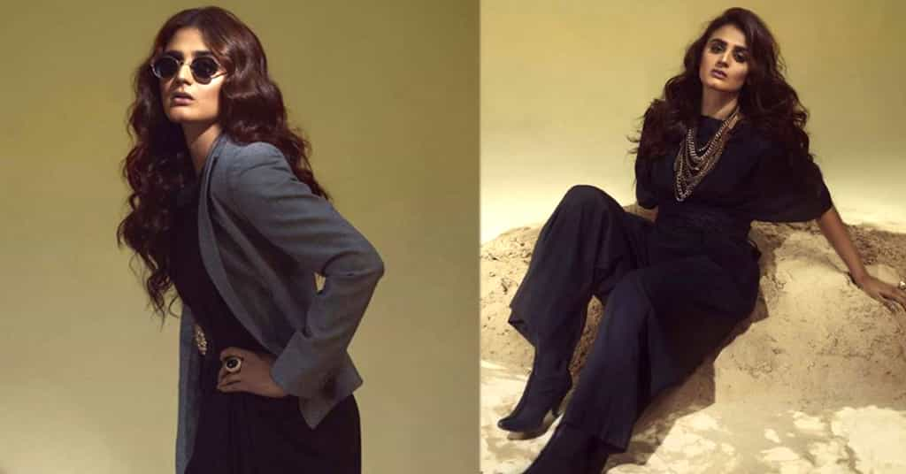 Kashf Star Hera Mani New All Black Photoshoot