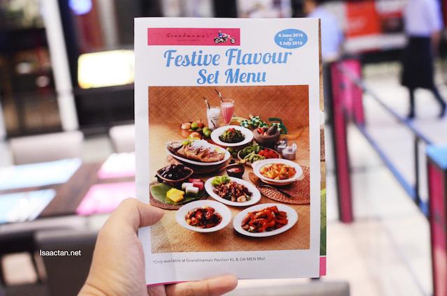 Festive Flavour Set Menu @ Grandmama's Pavilion KL & Damen USJ