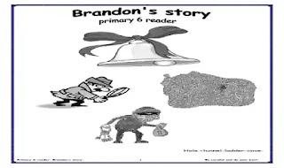 مذكرة اسئلة واجابات نموذجية علي قصة Brandon's story ملزمة وشيتات تدريبات على قصة Brandon's story