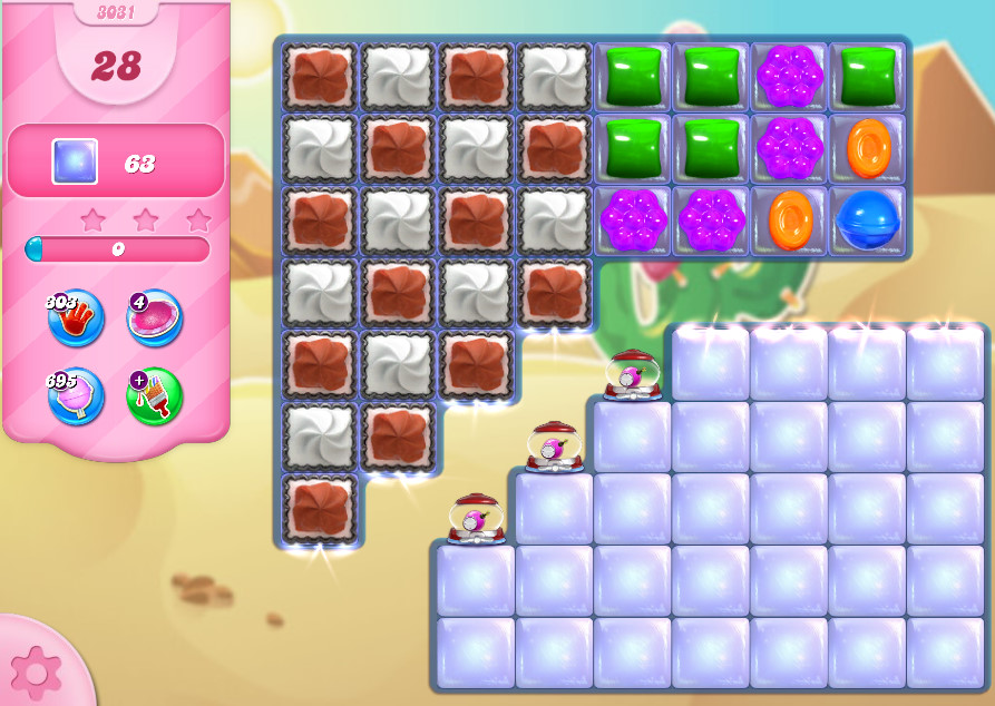 Candy Crush Saga level 3031