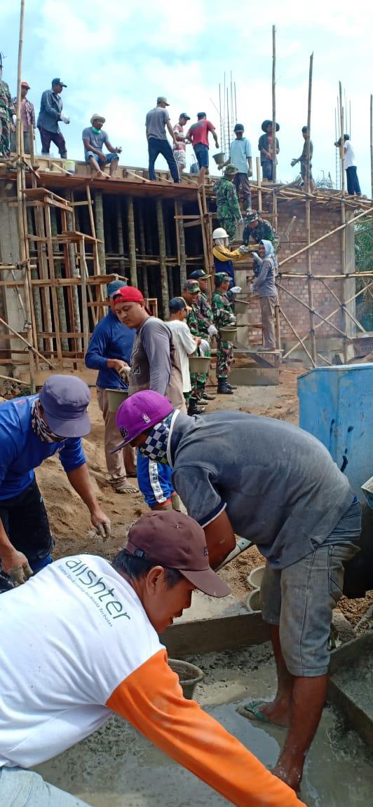 Korem 042/Gapu Bantu Pembangunan Gereja di Tanjabtim