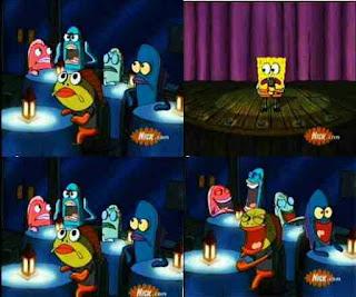 Polosan meme spongebob dan patrick 61 - spongebob stand up comedy, siapa yang paling lucu di bikini bottom, terus ikan-ikan pada tertawa