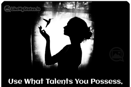 Use What Talents You Possess... Inspirational Life Changing Quote...