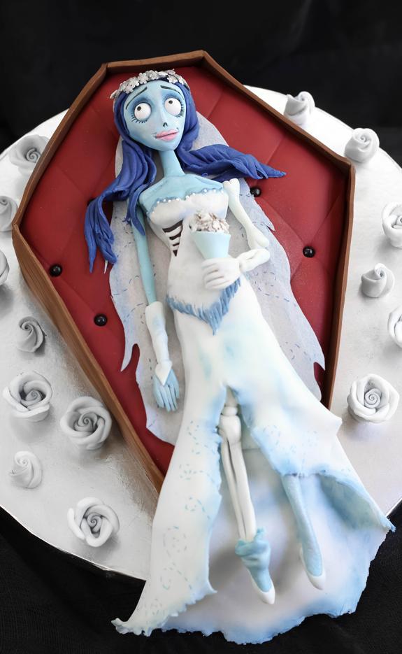 Corpse Bride Blue Velvet Cake Complete Tutorial