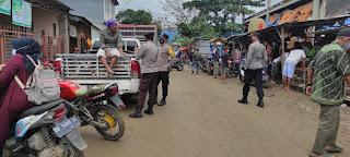 Guna Menekan Angka Penyebaran Covid-19, Kapolsek Baraka Lakanakan Operasi Yustisi di Pasar Citra Baraka