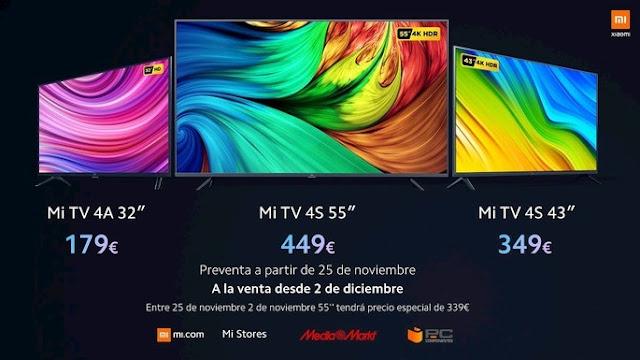 Smart TVs da Xiaomi na Europa