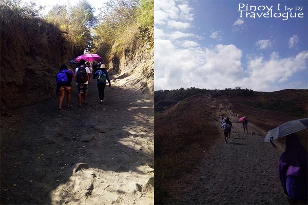Taal's dusty hiking trail