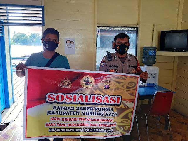 Polsek Murung Gelar Sosialisasi Saber Pungli Di Pos Pol Pelabuhan