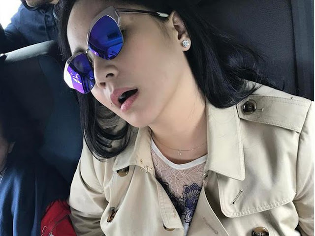Duh! Nagita Slavina Tidur Mangap Aja Cantik Banget