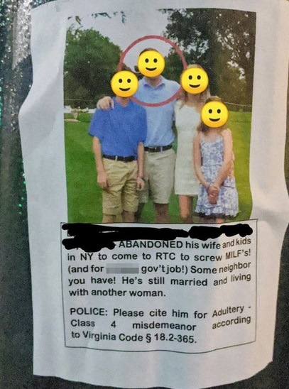 Furious wife puts up posters after discovering her husband has been cheating
