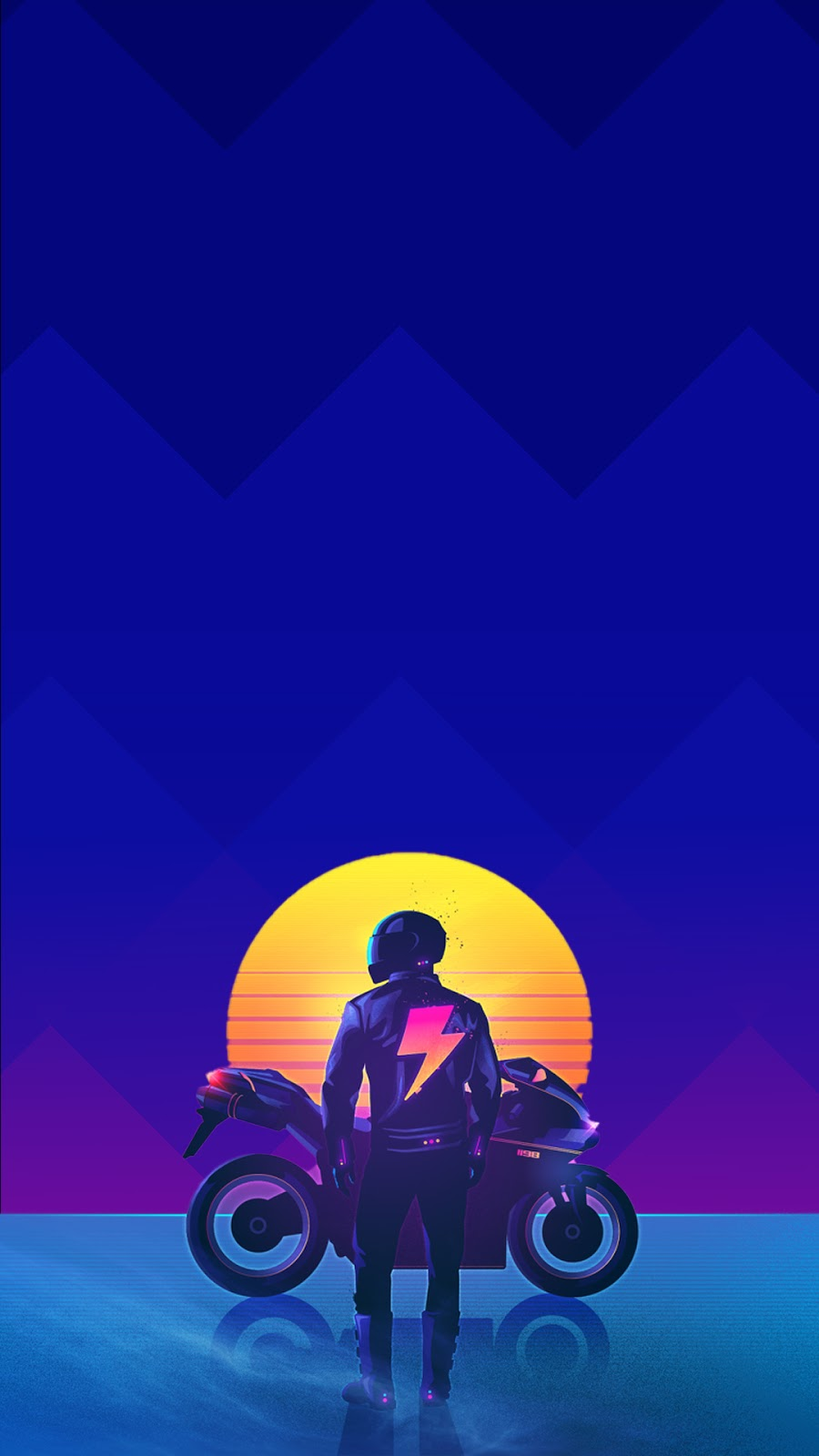 rider cyberpunk outrun wallpaper for phone in 1080p