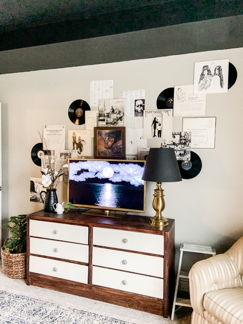 Large black and white gallery wall