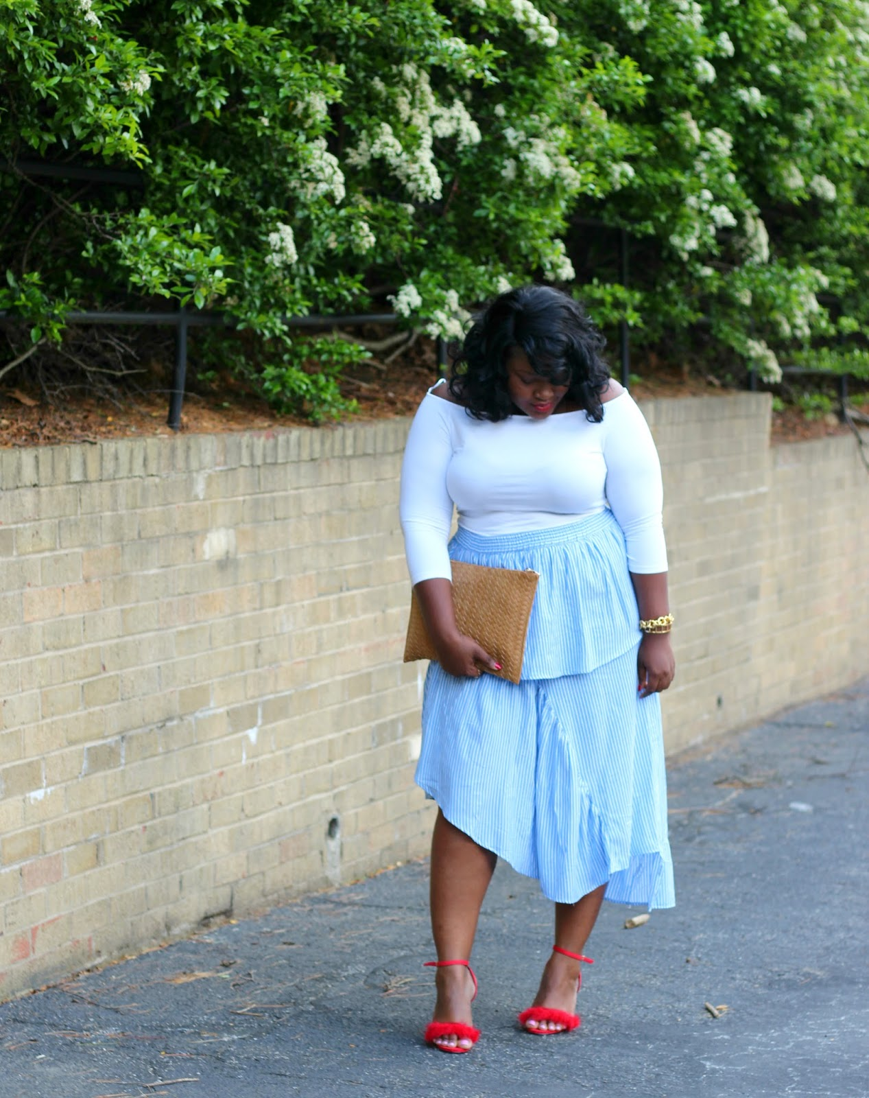 asos curve deconstructed skirt outfit
