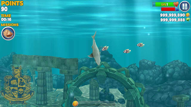 Cheat Hungry Shark evolution unlimited money and gems