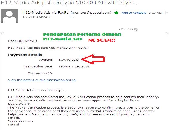 bukti pembayaran h12 media, h12 media scam, bukti pembayaran pertama h12 media, h12 media ads bayar, gambar payment h12 media ads, h12 media ads berbayar tak, gambar bayaran h12 media, h12 media tak bayar pengguna, cara daftar h12 media ads, cara jana wang online, buat duit online