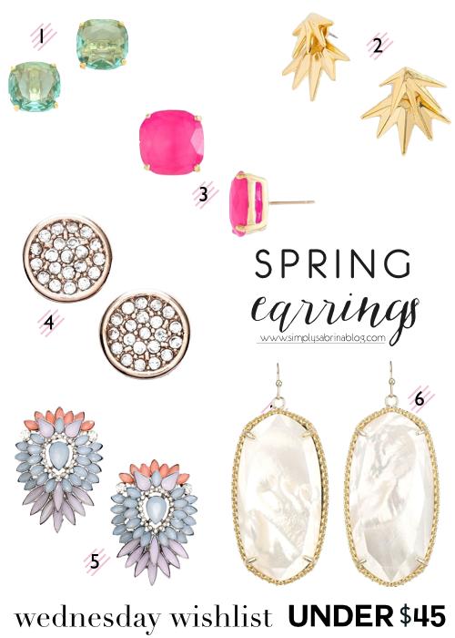 WEDNESDAY WISHLIST: Spring Earrings