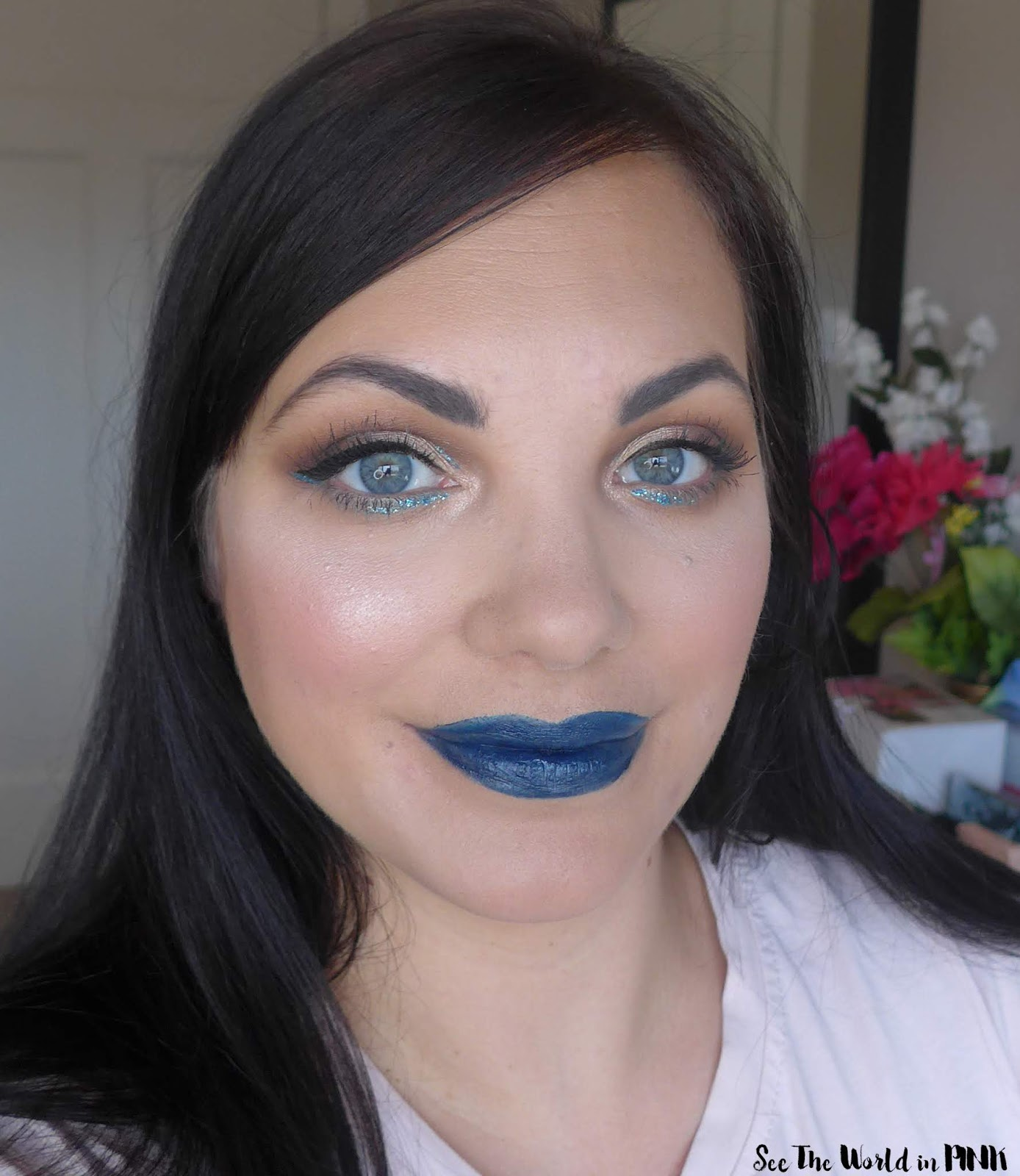 January Shop My Stash Makeup Look - Classic Blue and Making My Own Lipstick