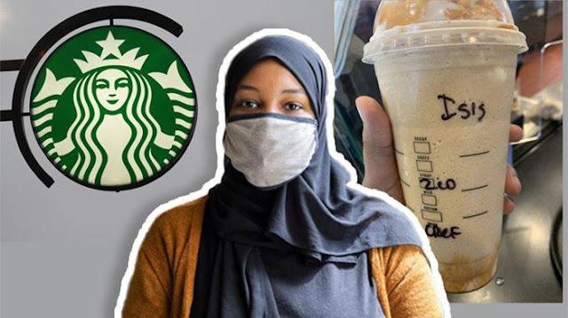 Wanita Berhijab Pesan Kopi di Starbucks, Barista Tulis Nama 'ISIS' di Gelasnya