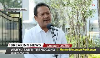 Sakti Wahyu Trenggono diangkat Menteri Kelautan dan Perikanan, Namanya muncul dalam daftar Eksportir benih lobster