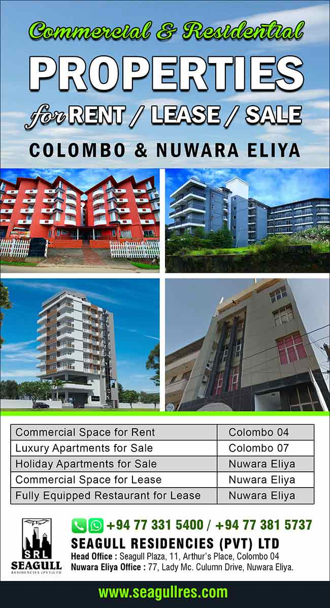 Commercial and Residential Properties for Rent /Lease /Sale in Colombo & Nuwara Eliya.
