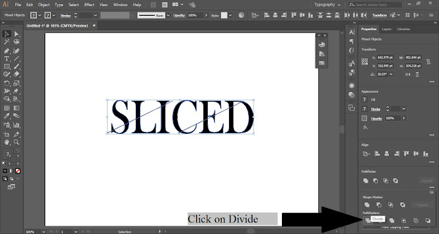 Sliced Text Effect in Adobe Illustrator