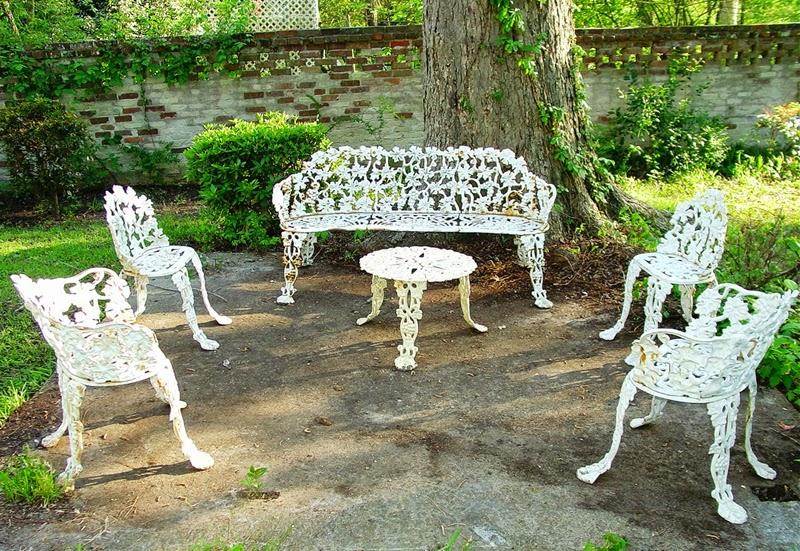Antique Wrought Iron Chairs Cast Iron Patio Set | Patio Design Ideas