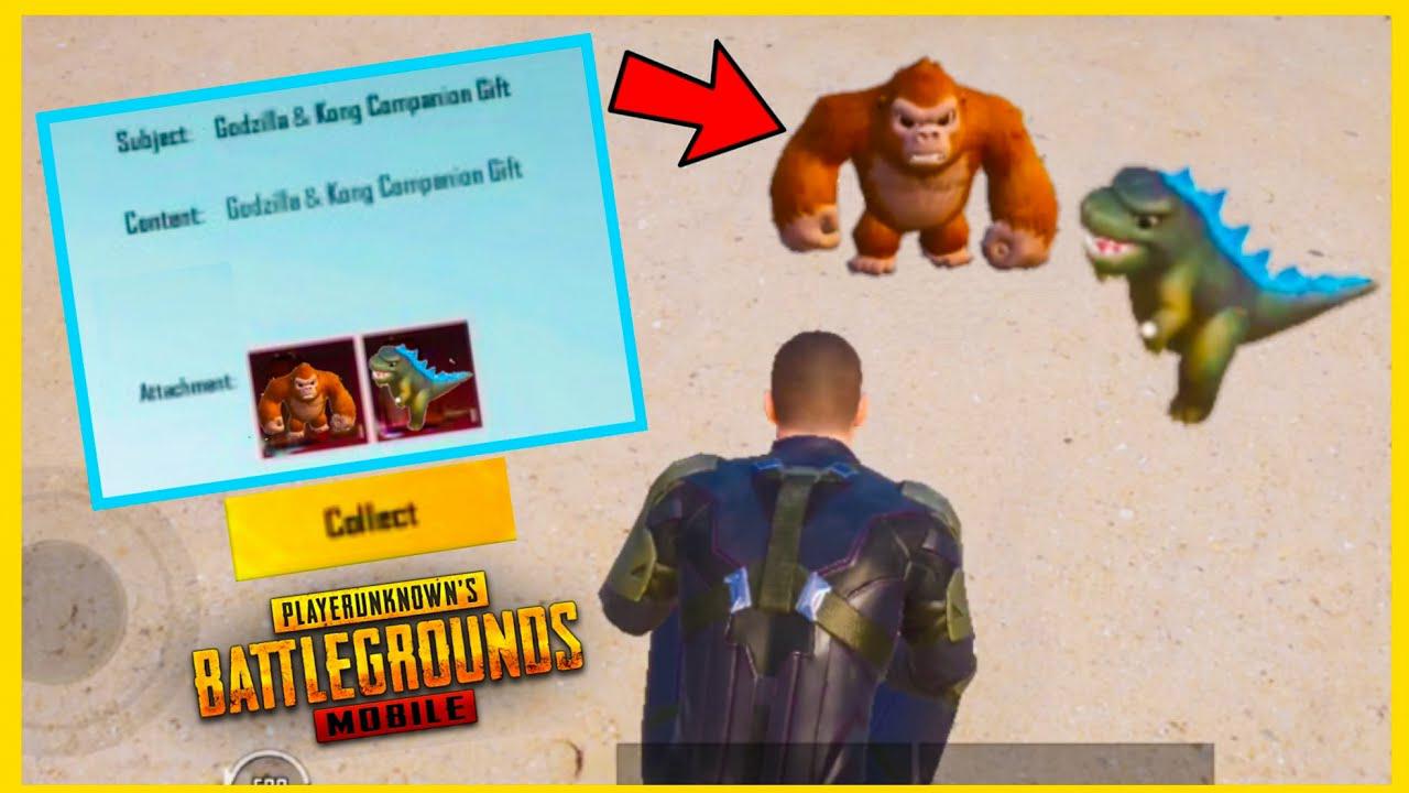 Kong, Godzilla Companion Free in PUBG Mobile