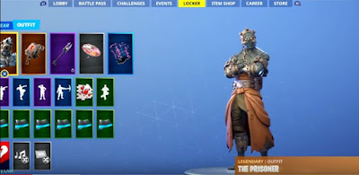 Snowfall Prisoner Skin, Stage 2, Fortnite Battle Royal