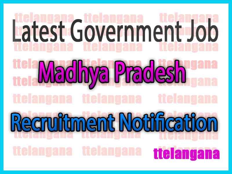 Latest Madhya Pradesh Government Job Notifications