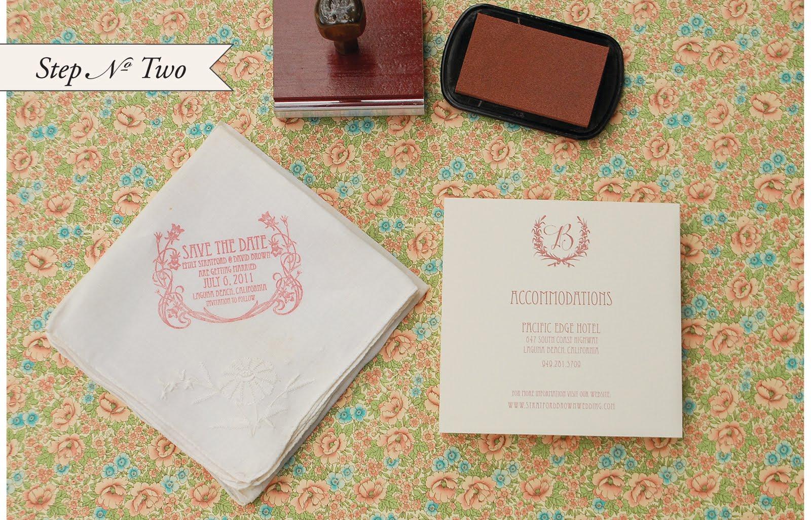 Antiquaria Diy Tutorial Vintage Handkerchief Save The Dates