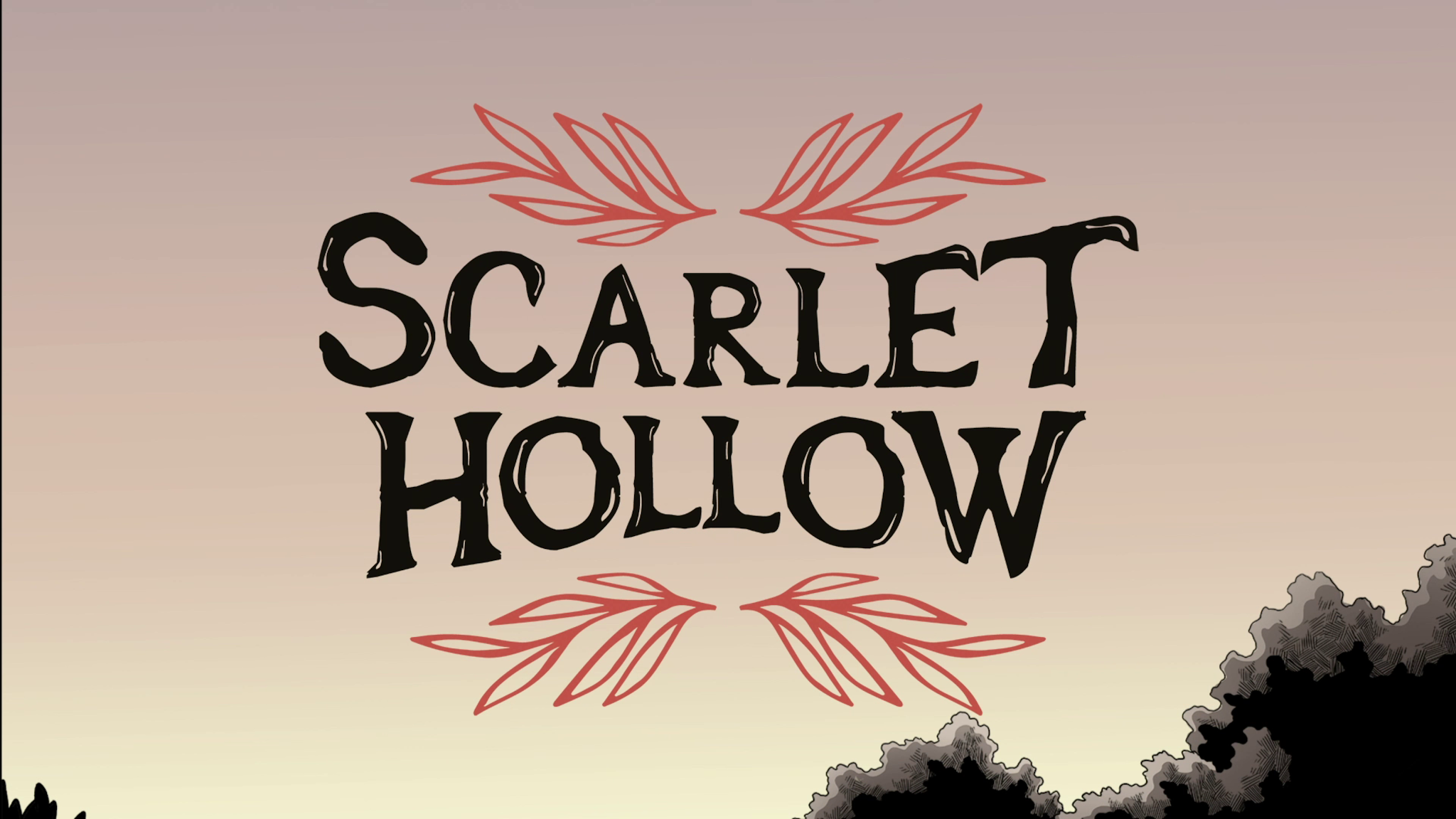 Scarlet Hollow opening title.