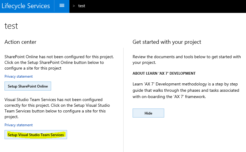 LCS tools - Part 1 - Project setup | Deepak's Dynamics AX blog
