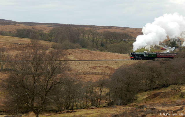 The Flying Scotsman Steam engine on the North Yorkshire Moors