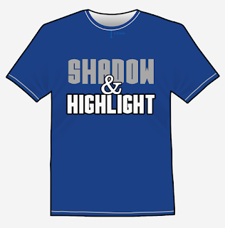 Shadow and highlight design for t-shirt