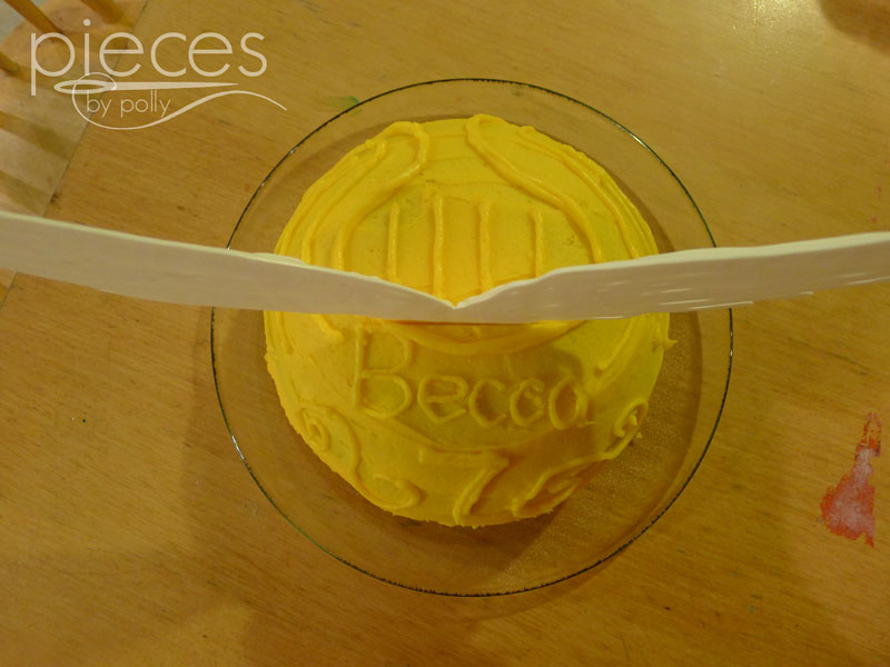 Pieces by Polly Golden Snitch Birthday Cake Harry Potter Birthday