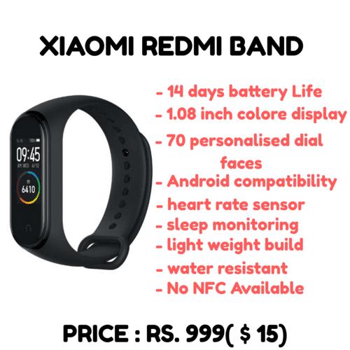 xiaomi redmi band specifications